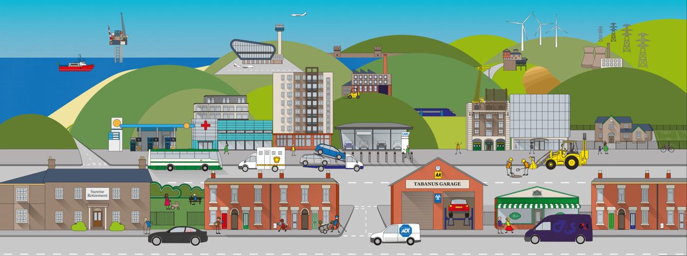 TBS Town Illustration