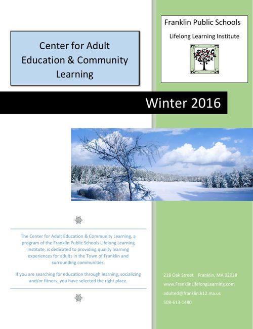 FPS Lifelong Learning Center for Adult Education Winter 2016