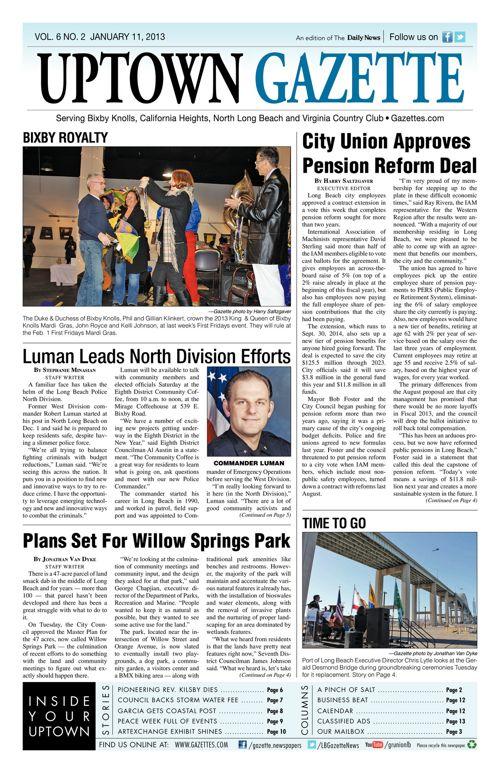 Uptown Gazette  |  January 11, 2013