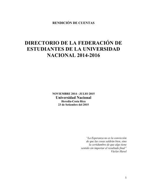 RENDICIÓN DE CUENTAS- Documento Sin parte CU
