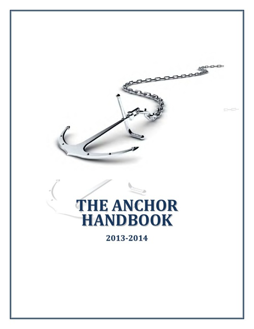 The Anchor Student Handbbook 2012-2013