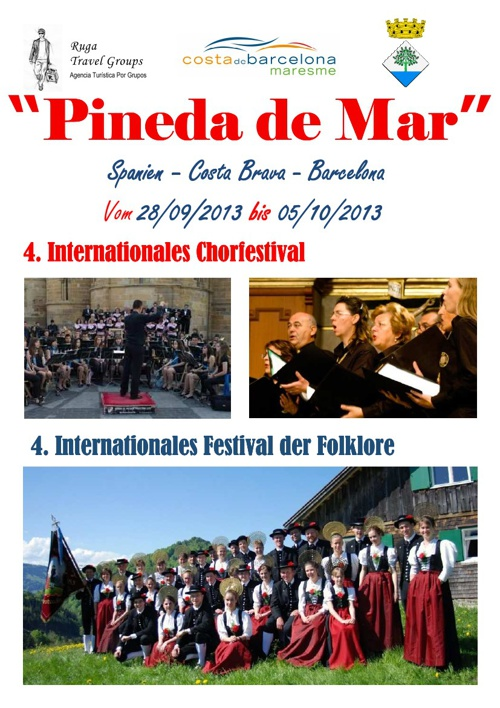 4. Internationales Chor Festival Pineda de Mar