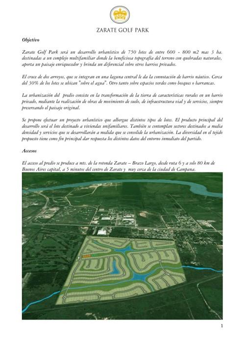Real Estate Zarate Golf Park