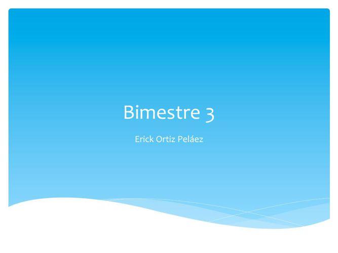 Presentacion bim 3