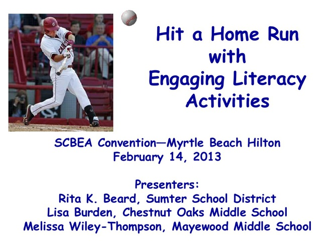 Hit a Home Run with Engaging Literacy Activities