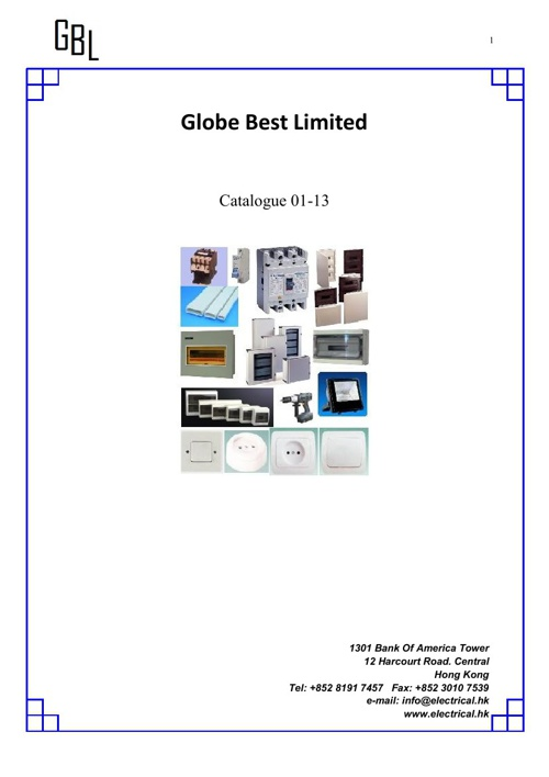 Copy of Globe Best Limited Catalogue.