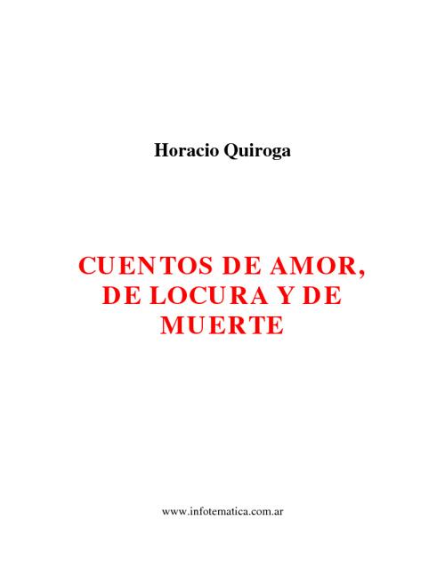 El aMoR lA lOcUrA y La MuErtE