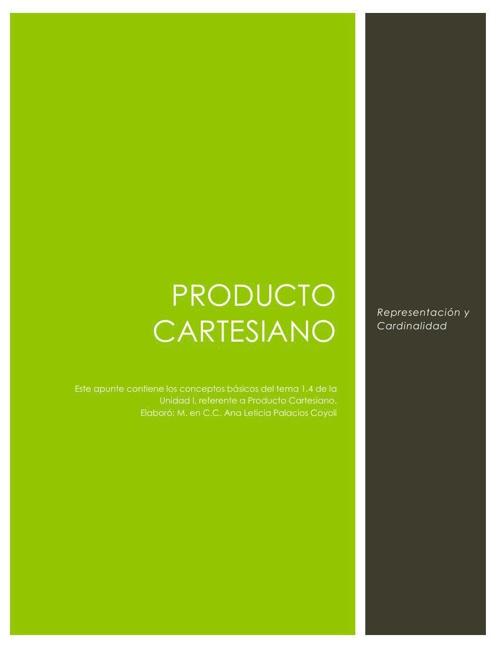 Producto Cartesiano