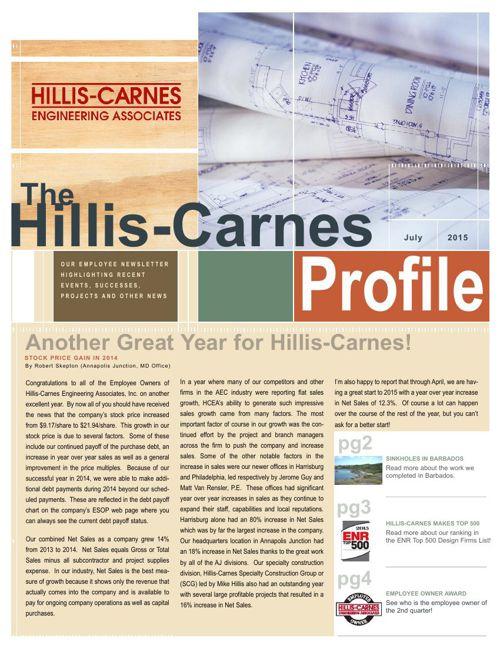 The Hillis-Carnes July 2015 ESOP Newsletter FlipBook