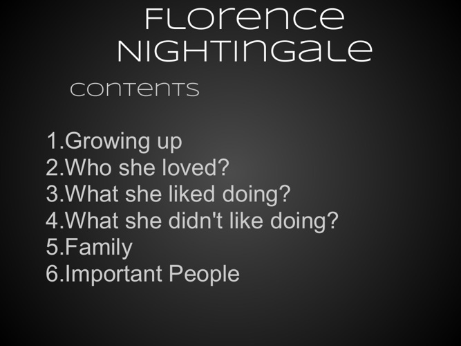 Florence Nightingale - VIP