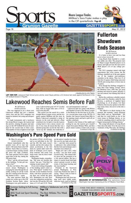Gazette Sports | May 31, 2012