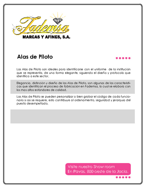 Catálogo Alas