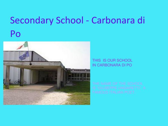 Our Italian school