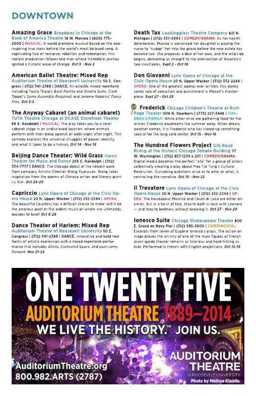Chicago Theatre Guide - Fall 2014
