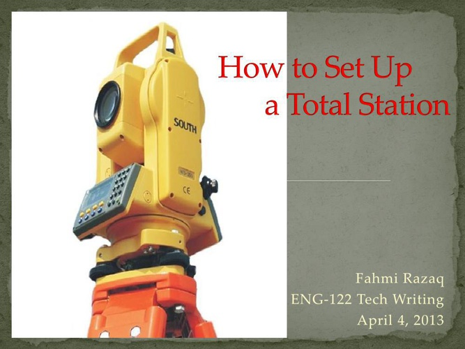 How to set up theodolite