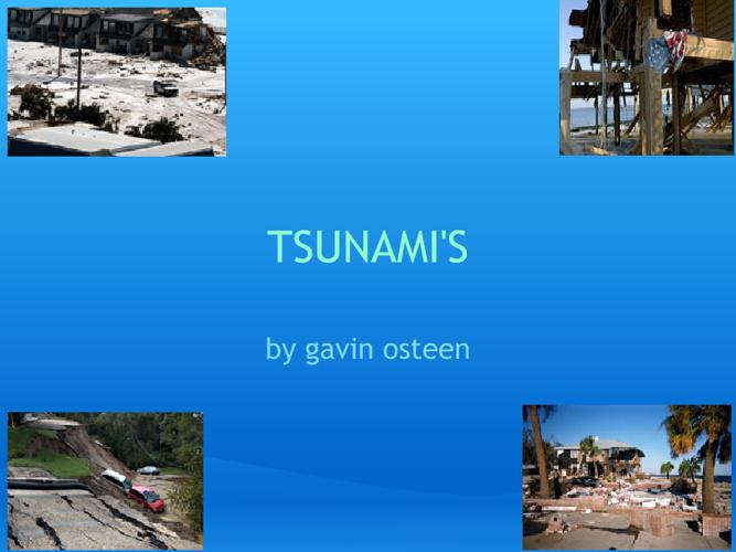 tsunami's by Gavin