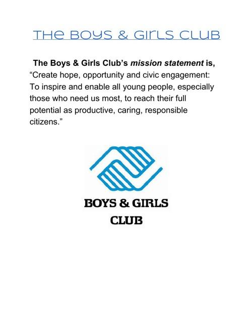 Boys and Girls Club Presentation