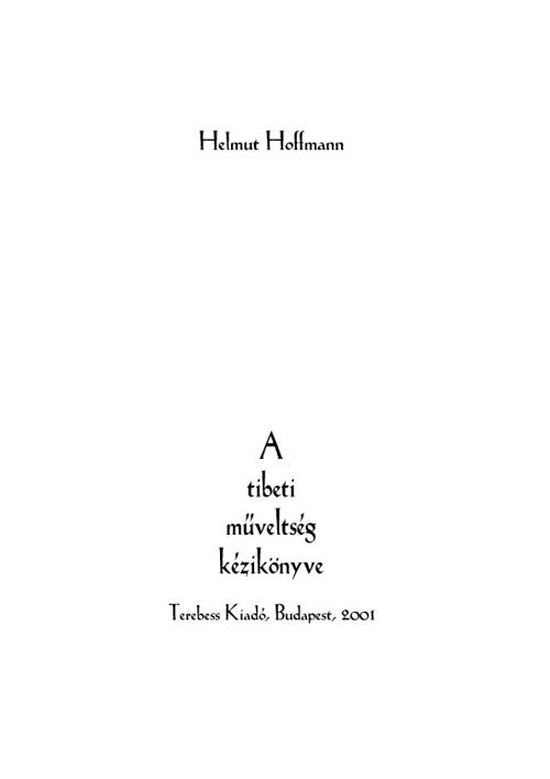 A tibeti műveltség kézikönyve