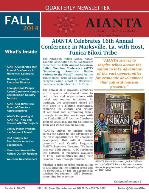 AIANTA 2014 Fall Newsletter
