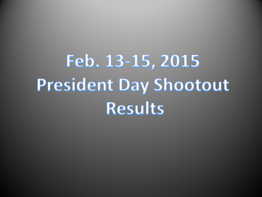 2015 President Day Shootout results