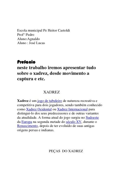 Xadrez by Agnaldo & José Lucas
