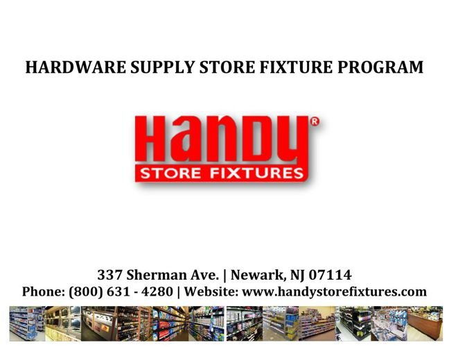 Handy Store Fixtures Hardware-Electrical Supply Store Catalog
