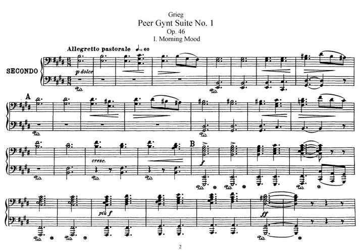 Grieg - Peer Gynt Suite (duet)