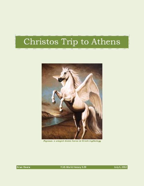Christos Trip to Athens