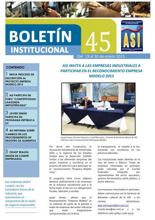 Boletín 45 ASI