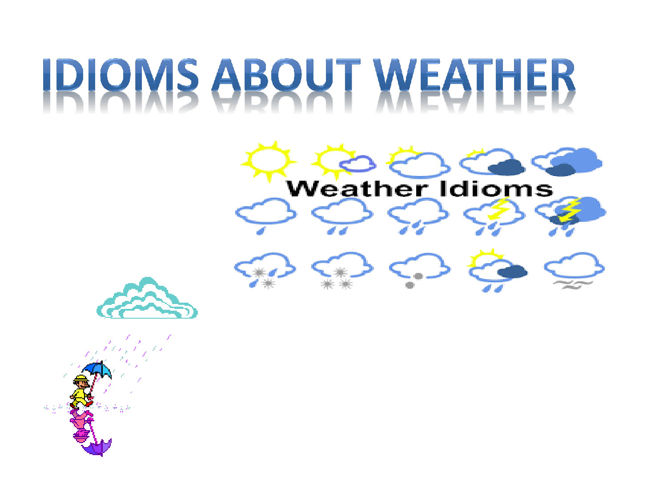 idioms about weather .