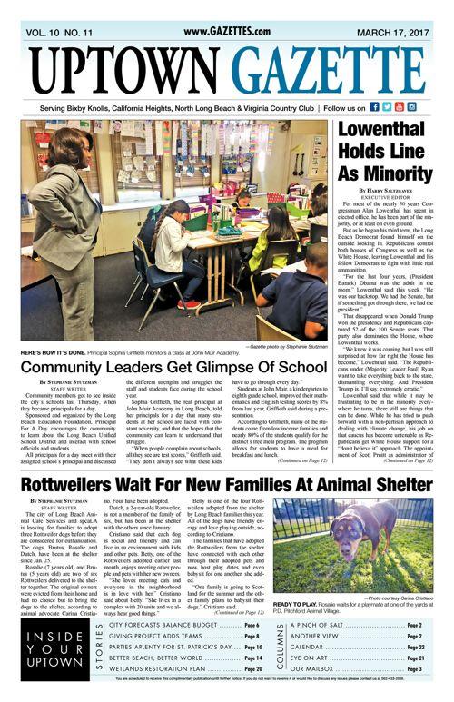 Uptown Gazette  |  March 17, 2017