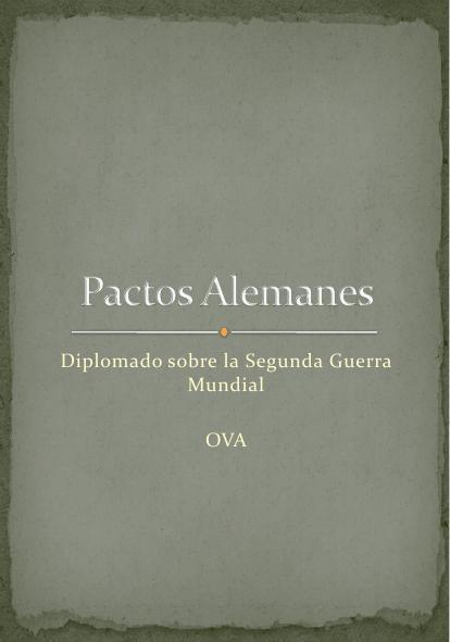 (E) OVA1 Pactos Alemanes