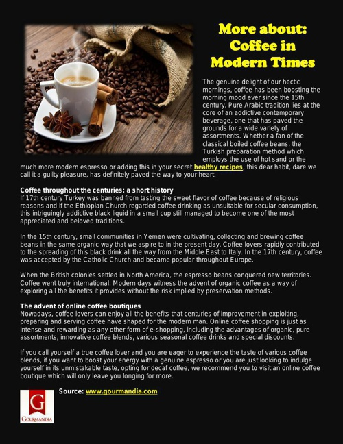 More about: Coffee in Modern Times
