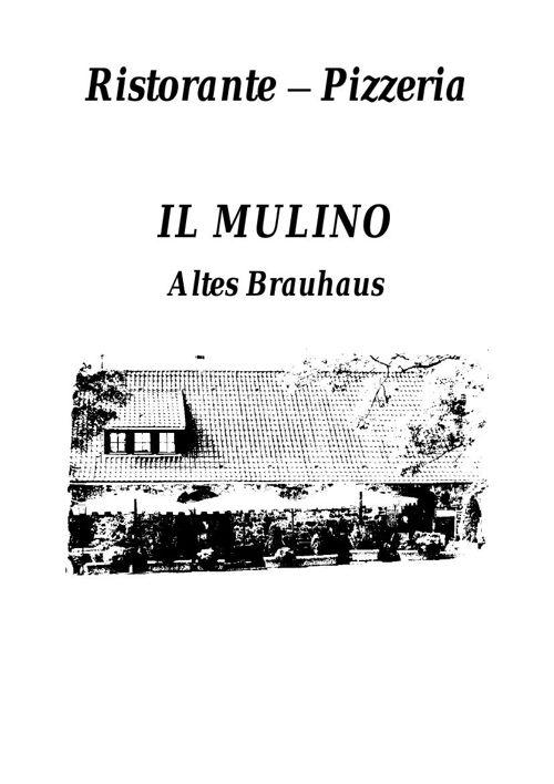 Speisekarte IL MULINO