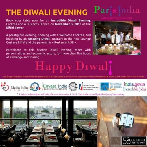 BUSINESS DINNER PARIS-INDIA