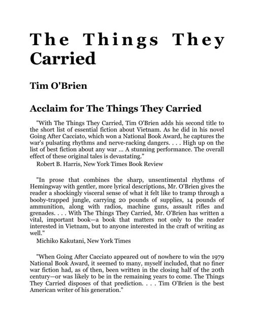 things they carried term