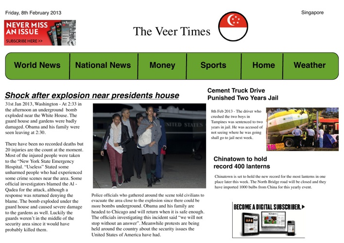 Broadsheet - Feb 8 - Veer