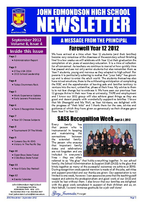 Copy of September Newsletter