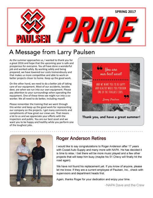 Spring 2017 Paulsen Pride