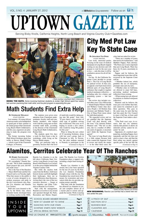 Uptown Gazette     January 27, 2012