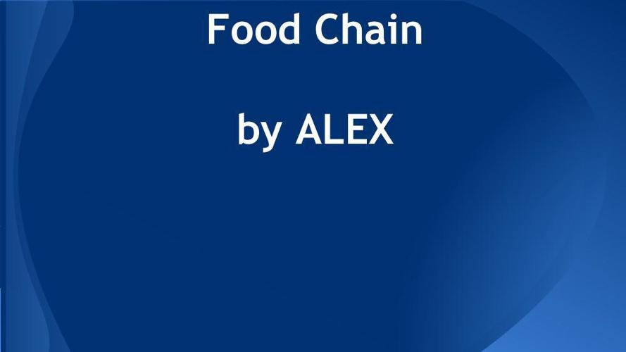 Alex's Food Chain Flipbook