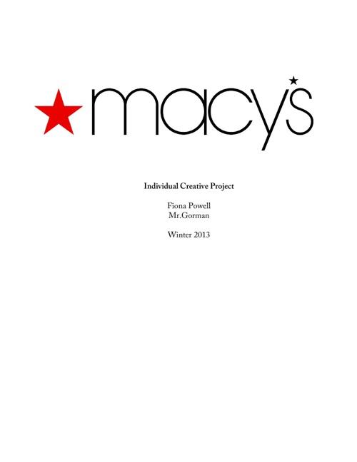 Macy's Individual Creative