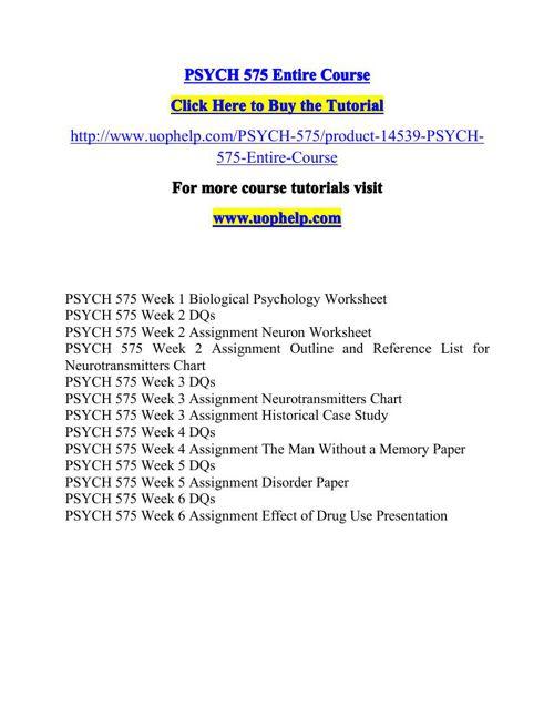 PSYCH 575ACADEMIC COACH / UOPHELP