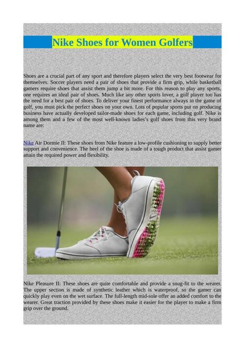 Nike Shoes for Women Golfers