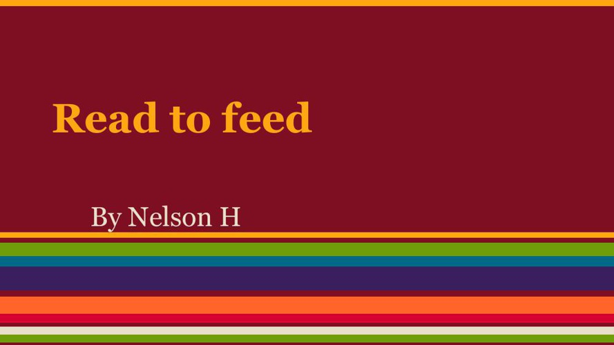 Read to Feed VCE pub