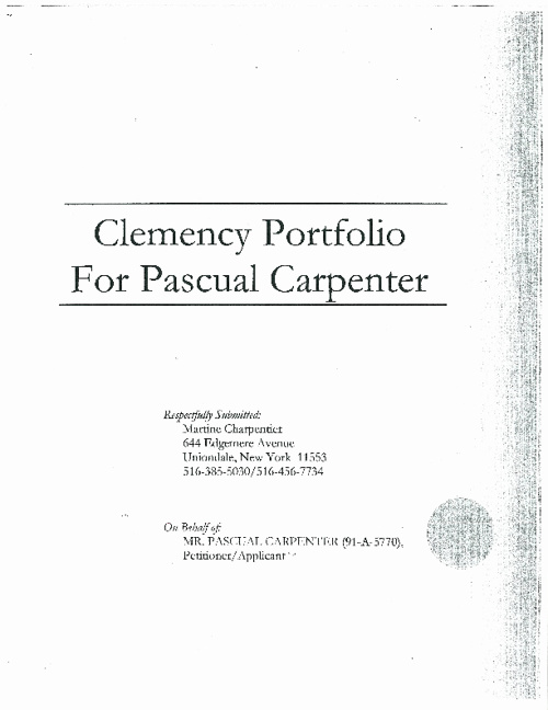Pascual Carpenter's Clemency Portfolio