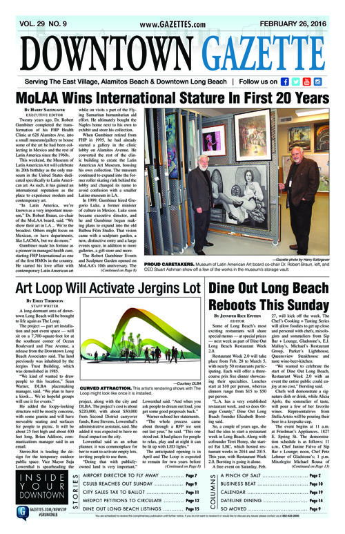 Downtown Gazette  |  February 26, 2016