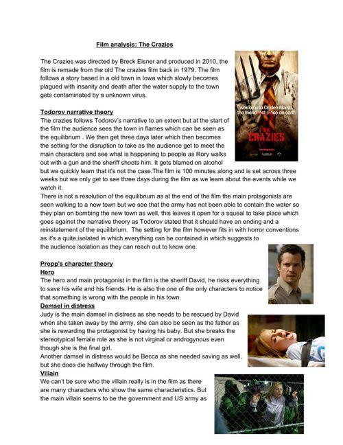 Film analysis: The Crazies