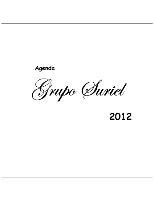 Agenda do Grupo Suriel