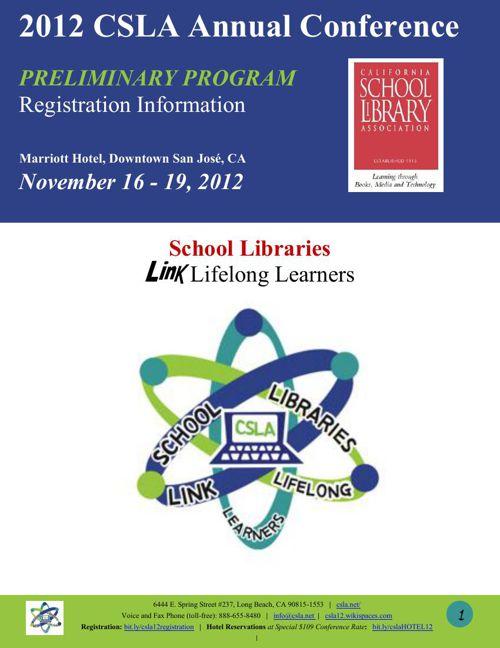 CSLA PRELIMINARY Conference Program - San Jose 09092012